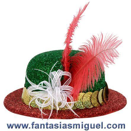 centros de mesa con sombreros sombrero tricolor como hacer manualidades fantasias