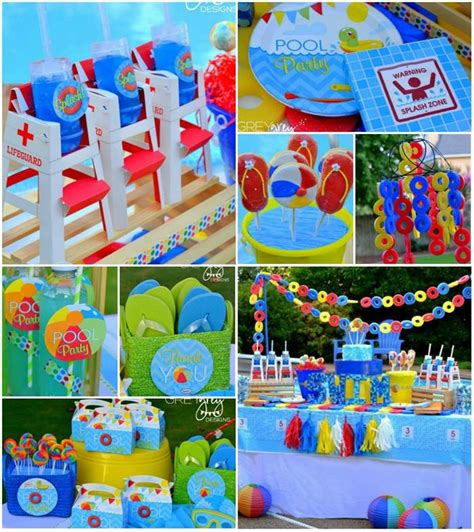 pool party decorations summer pool party with so many really cute ideas via kara