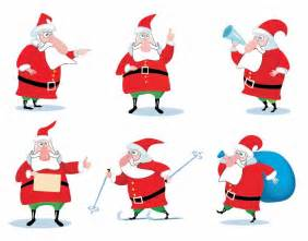 Free santa claus vector illustration collection free vector graphics