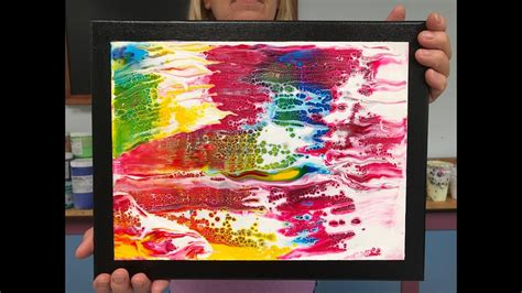 how to preserve acrylic paint on canvas acrylic pour painting mounting a paper painting on canvas