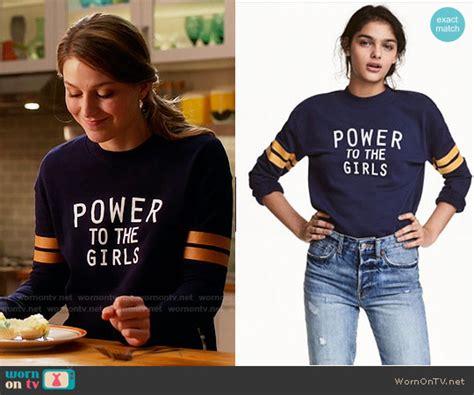 Sweater Supergirl wornontv kara s power to the sweatshirt on