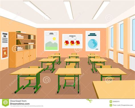 classroom clipart illustratie een leeg klaslokaal vector illustratie