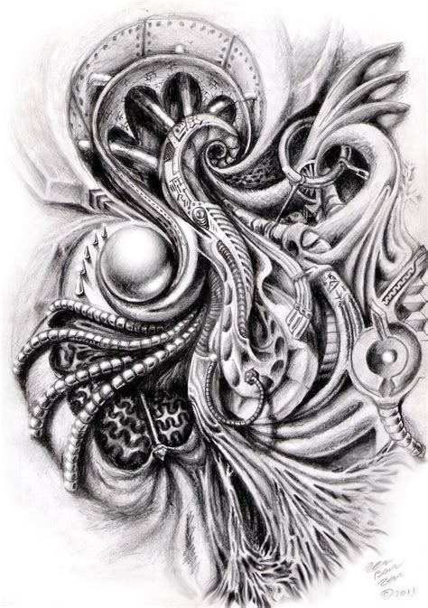 biomechanical tattoo design 12 great bio mechanical design ideas
