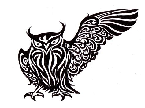 tribal tattoo drawings 11 beautiful tribal owl only tribal