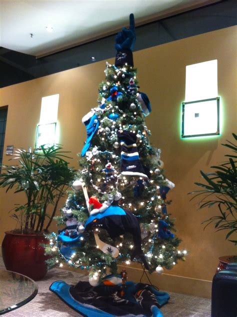 a san jose sharks hockey christmas tree sj sharks