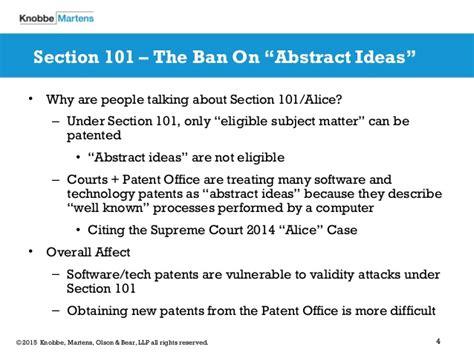 Software Patent Eligibility A Post Alice Landscape