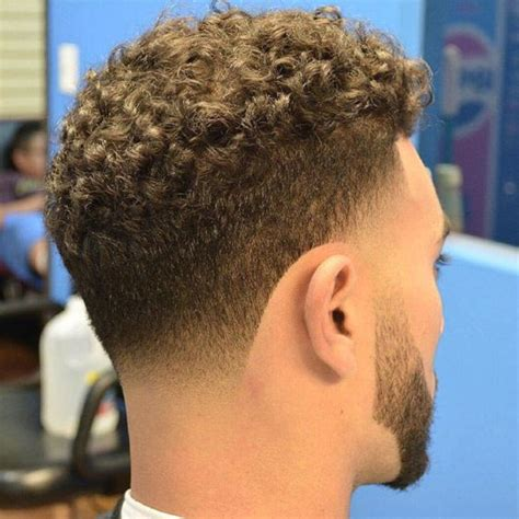 taper fade curly hair mid taper fade haircut hairs picture gallery