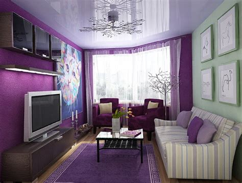 what goes good with purple how to combine colors in the interior