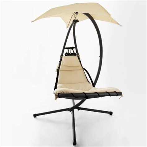 sobuy 174 ogs16 bain de soleil hamac transat suspendu lit suspendu fauteuil balancelle de jardin et