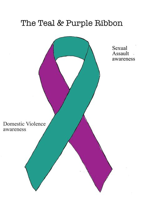 teal meaning the teal and purple ribbon by ryu ren on deviantart