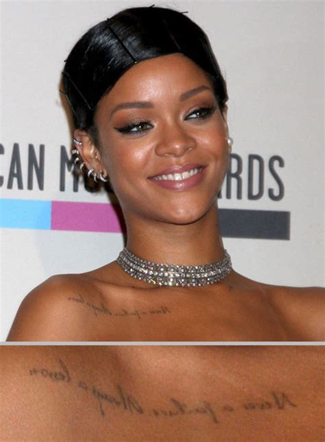 rihanna sternum tattoo rihanna s picture one rihanna s many tattoos in