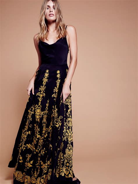 Dress Denimmaxi Dressdress Import Fashion Realpic cowl embroidered maxi dress at free clothing boutique