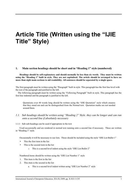 microsoft word manuscript template proper manuscript format for a