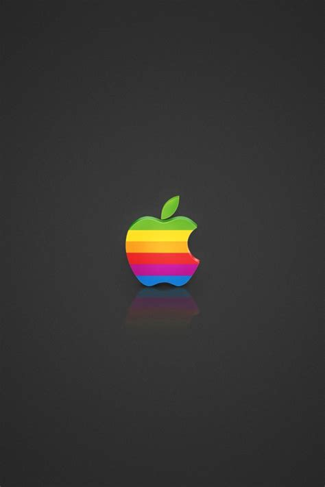 wallpaper apple for iphone 4 640x960 coloured apple logo iphone 4 wallpaper