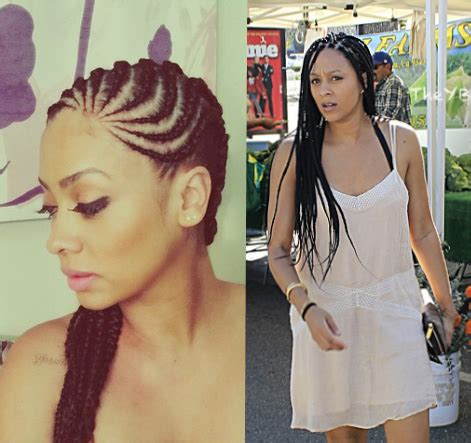 la la anthony and tia mowry have installed braids and we