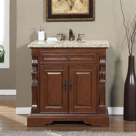 Home Design Outlet Center Bathroom Vanities by Silkroad Exclusive 36 Quot Single Sink Cabinet Venetian Gold