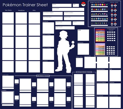 blank trainer card templates trainer sheet blank by pandamoniuum on deviantart