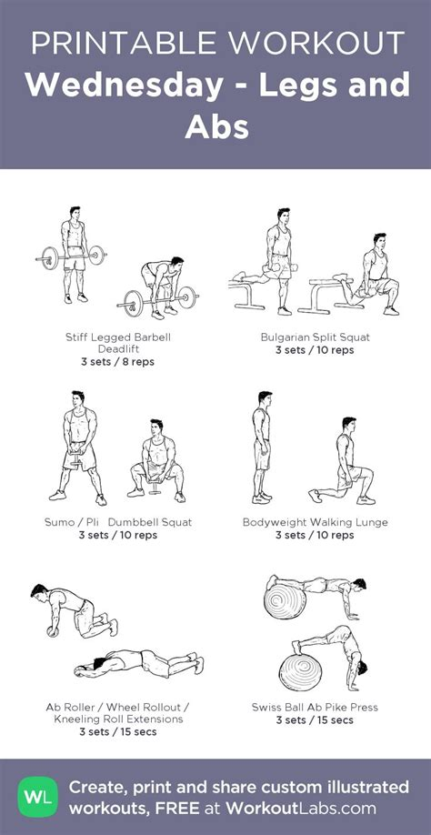 wednesday legs and abs my visual workout created at workoutlabs click through to