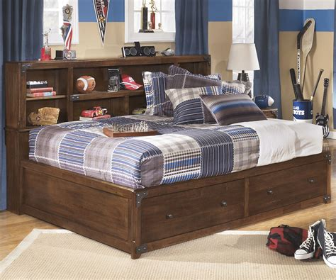 full size beds for boys delburne full size storage bed b362 ashley kids