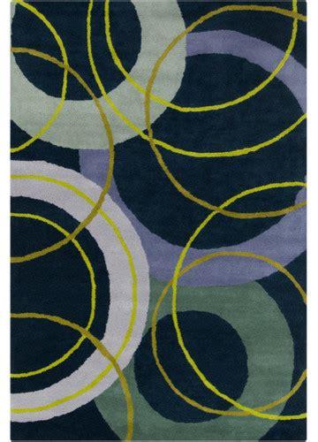 Navy Blue Geometric Rug by Cinzia Navy Blue Geometric Rug Modern Rugs