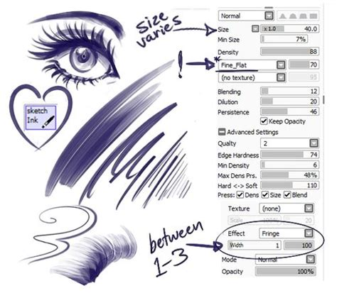 firealpaca lineart tutorial 39 best art paint tool sai brush settings images on pinterest