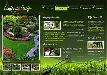 Garden Design Template On Landscape Design Flash Template Best Website Templates Landscape Landscape Architecture Website Templates