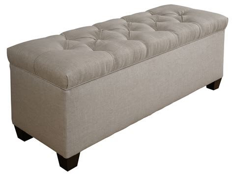 Tufted Storage Bench Tufted Shoe Storage Bench In Sand
