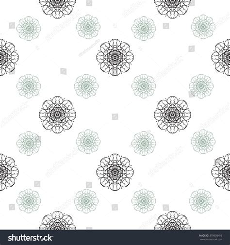 doodle flora abstract vintage seamless pattern background flora stock