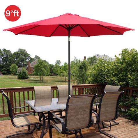 9ft outdoor patio umbrella aluminum w tilt crank