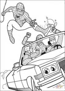 lego robber coloring pages spiderman try to catch the robber coloring page free