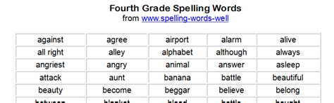 printable word games for 4th graders free printable spelling worksheets for 4th graders 1000