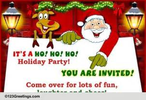 Inspirational Message For Christmas Party - ho ho ho it s a party free invitations ecards greeting cards 123 greetings