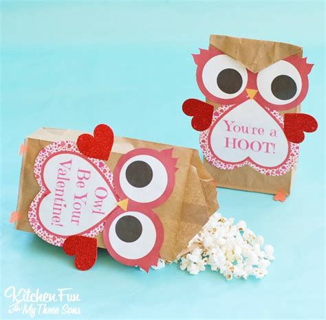 paper craft ideas for valentines day owl craft paper treat bags with a free