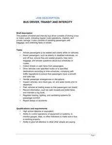 bus driver transit and intercity job description