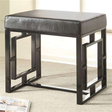 coaster bench coaster benches 501154 petite black bench dunk bright