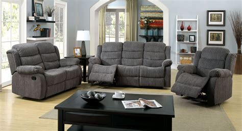 Millville Gray Chenille Reclining Living Room Set From Chenille Living Room Furniture