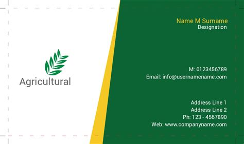 agriculture business card templates free business card