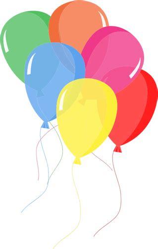 25 Balon Warna Warni Badut balon warna warni domain publik vektor