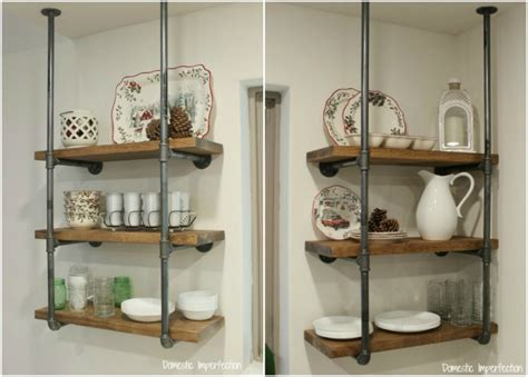 open kitchen shelving domestic imperfection industrial pipe kitchen shelving domestic imperfection