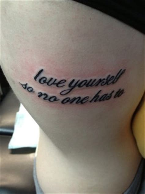 tattoo quotes on loving yourself love yourself tattoo quotes quotesgram
