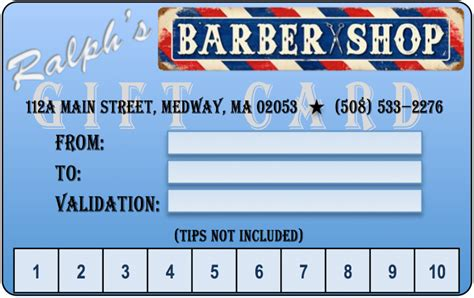 Haircut Gift Card Gift Ftempo Barber Shop Gift Certificate Template