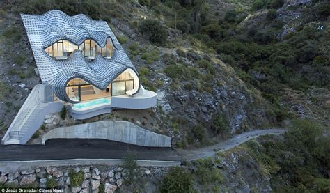 Earth Berm Home Designs by Ffuturistic House Perched On Cliff Face In Salobrena