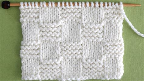 checkered knitting pattern how to knit the garter checkerboard stitch pattern