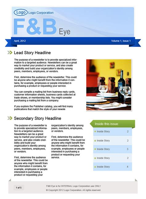 Microsoft Publisher Website Templates by Microsoft Publisher Newsletter Templates On Behance