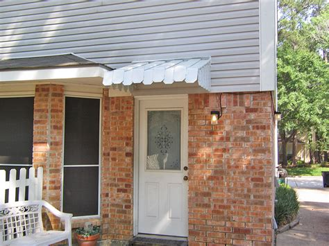 House Awnings With Sides Brookside Door Awning With Flat Side Panels