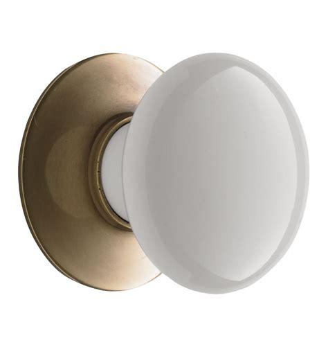 porcelain cabinet knob with brass backplate rejuvenation