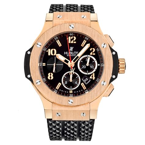 Hublot Bigbang Leather Chrono Mens Rosegold 6 301 px 130 rx pre owned hublot big chronograph gold