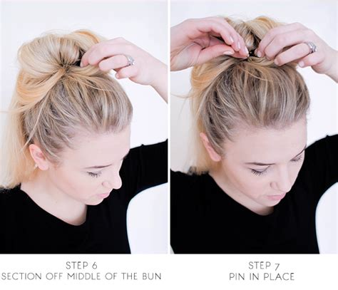how to make a bun with a bob cut sitting in our tree diy messy bun for long hair