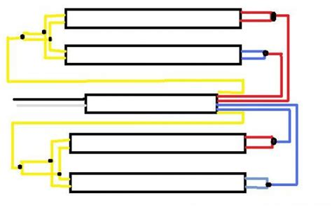 how to wire a 4 l t5 ballast wiring a ballast fluorescent diagram get free image