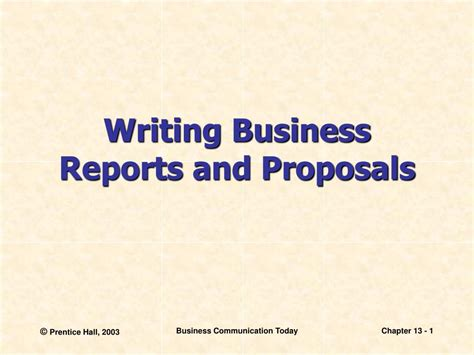 Business Letters And Reports Ppt ppt writing business reports and proposals powerpoint